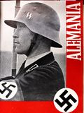 Cover magazine Nazi Germany Spanish. Spanish civil war. Cover with an SS soldier in a Spanish Nazi Germany magazine. Spanish civil war stock photos