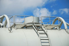 Cover of the tank for industrial liquids Stock Image