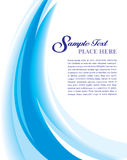 Cover Template Blue Royalty Free Stock Photography