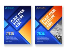 Cover template for books, magazine, brochures, corporate presentations. Cover template for books, magazine, brochures, corporate presentations, annual reports Stock Image