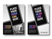 Cover template for books, magazine, brochures, corporate presentations. Cover template for books, magazine, brochures, corporate presentations, annual reports Stock Photography