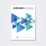 Cover template, brochure for technology concept and corporate business in A4 Stock Images