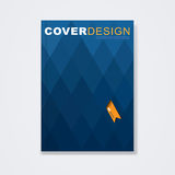 Cover template, brochure for technology concept and corporate business in A4 Stock Photography