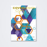 Cover template, brochure, or technology concept and corporate business Stock Image
