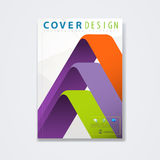 Cover template, brochure for technology or corporate business in A4 Royalty Free Stock Photo