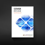 Cover template, brochure template layout,  for technology or corporate business Stock Photography