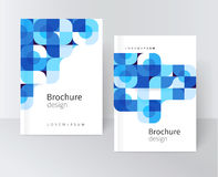 Cover template for catalog report brochure poster. Design creative concept cover for catalog, report, brochure, poster. Blue abstract geometric shapes. vector Royalty Free Stock Image