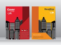 Book Cover with City Concept Background Royalty Free Stock Photography