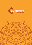 Cover template with floral background. Orange design background for business. annual report book cover, brochure, flyer, poster Royalty Free Stock Photos