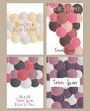 Cover template with round shapes. Cover design. Cover template with round shapes. Can be used for postcard, invitation, brochure, cover book, catalog. Size A4 vector illustration