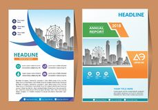 Cover template a4 size. Business brochure design. Annual report cover. Vector illustration. royalty free illustration