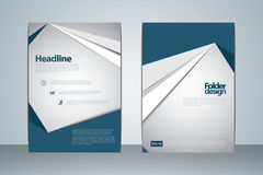 2017 A4 Cover Template. Vector design template for Folder cover, Brochure, catalog, company profile Royalty Free Stock Image