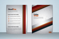 2017 A4 Cover Template. Vector design template for Folder cover, Brochure, catalog, company profile Royalty Free Stock Photo