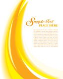 Cover Template Yellow. Abstract and modern business template design Royalty Free Stock Images