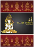 Cover tradition thai Buddha Jewelry Set. Vector Stock Photos