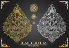Cover tradition thai Buddha Jewelry Set Royalty Free Stock Photos