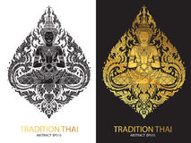 Cover tradition thai Buddha Jewelry Set. Vector Royalty Free Stock Photos
