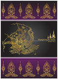 Cover tradition thai,Rama battle a giant. อำแะนพ Stock Image