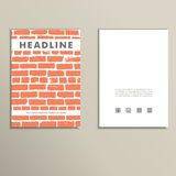 Cover vector book with background color brickwork Stock Photos