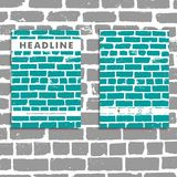 Cover vector book with background color brickwork Stock Photo