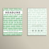 Cover vector book with background color brickwork Royalty Free Stock Photography
