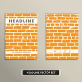 Cover vector book with background color brickwork Stock Photography