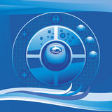 Cover vector sea background Stock Image