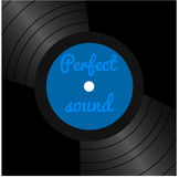 Cover with vinyl records Royalty Free Stock Photos