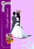 Cover for wedding album. Royalty Free Stock Photo