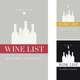 Cover the wine list Stock Photo