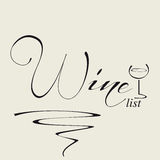 Cover for wine list Royalty Free Stock Image