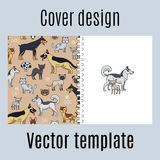 Cover With Cats And Dogs Pattern Royalty Free Stock Image