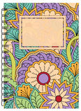 Cover zen floral design of the notebook Royalty Free Stock Photography
