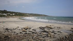Coverack beach Cornwall England UK coastal fishing village on the Lizard Heritage coast stock video