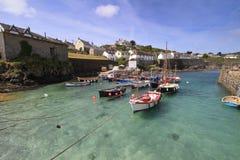 Porto Cornovaglia Inghilterra Regno Unito di Coverack Fotografia Stock Libera da Diritti