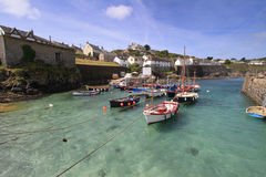 Coverack schronienie Cornwall Anglia UK Zdjęcie Royalty Free