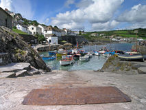 Coverack Harbour 2. Fishing Boats in Coverack Harbour, Cornwall, UK Royalty Free Stock Photo