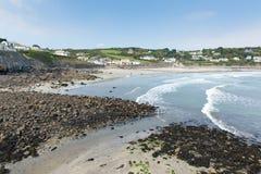 Coverack strand Cornwall England UK Royaltyfri Fotografi