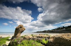 Coverack Wolken. Lizenzfreie Stockfotos