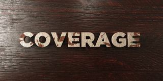 Coverage - grungy wooden headline on Maple  - 3D rendered royalty free stock image Stock Photography