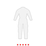 Coverall it is icon . Stock Photography