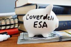 Coverdell ESA Education Saving Account Fundo do dia chuvoso foto de stock royalty free