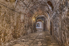 Covered alley in Colle di Val dElsa, Tuscany, Ital Royalty Free Stock Image