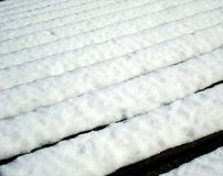 Covered bench lines Stock Photo
