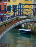 Covered boat in Venice Royalty Free Stock Photography