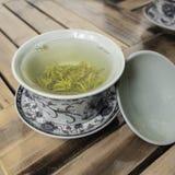 Covered bowl tea Stock Photo