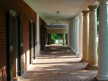 Covered brick walkway Stock Photo