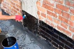 Covered brick wall  primer Stock Photos