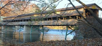 Covered bridge 1 Stock Photo