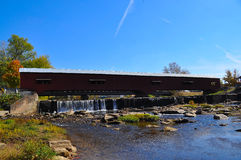 Covered bridge. A covered bridge in Bridgeton, Indiana Royalty Free Stock Images
